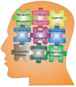 The main symptoms of Alzheimer's disease