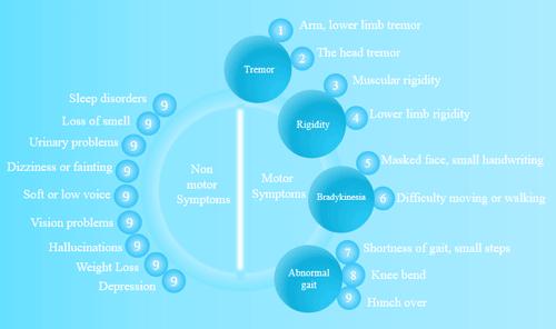 Symptoms of Parkinson's disease: motor and non-motor symptoms