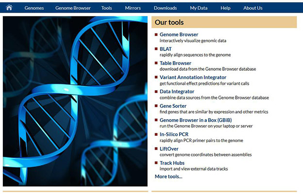 Home page of UCSC Cancer Genomics Browser