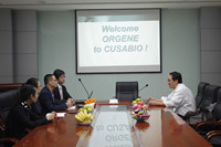 ORGENE from the United States took a visit to CUSABIO