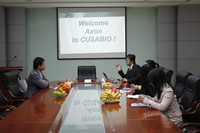 The visit from Axon Scientific to Cusabio