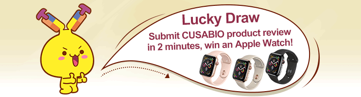 Submit CUSABIO product review, win an Apple Watch!