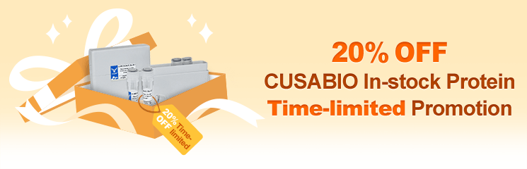 20% OFF CUSABIO In-stock Protein Time-limited Promotion