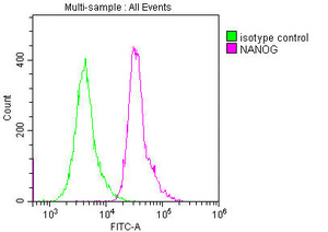 Flow Cytometry(FC) 1- NANOG Monoclonal Antibody