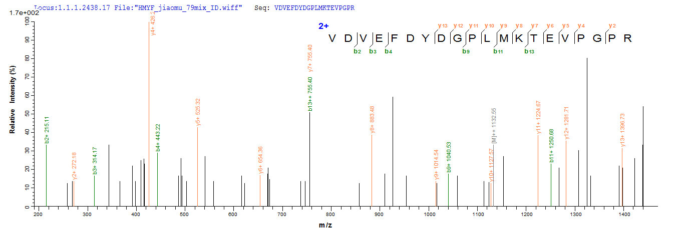 LC-MS Analysis 2- Recombinant protein Human ABAT